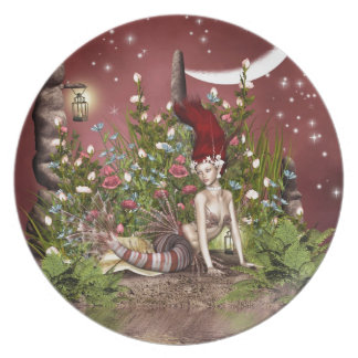Red Haired Beauty Dinner Plate