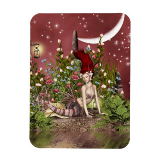 Red Haired Beauty Rectangular Photo Magnet