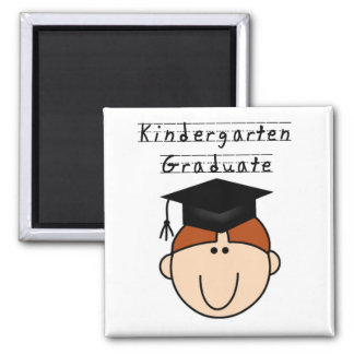 Red Haired Boy Kindergarten Graduate Tshirts 2 Inch Square Magnet