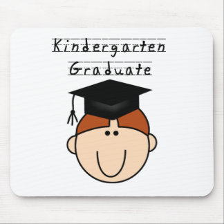 Red Haired Boy Kindergarten Graduate Tshirts Mouse Pad