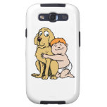 red haired boy with big dog samsung galaxy s3 covers