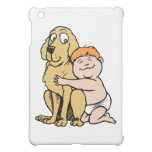 red haired boy with big dog cover for the iPad mini