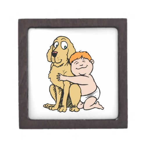 red haired boy with big dog premium gift boxes