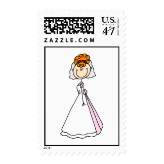 Red Haired Bride Wedding Postage