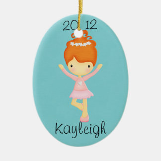 Red Haired Dancer Personalized Ornament