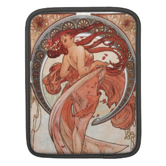 Red Haired Dancing Girl - Mucha Sleeve For iPads