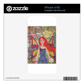 Red Haired Dreamer.jpg Decals For The iPhone 4