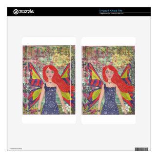 Red Haired Dreamer.jpg Kindle Fire Skin