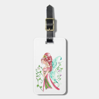 Red Haired Faery Luggage Tag