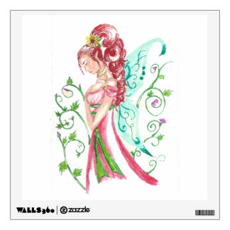 Red Haired Faery Wall Decal