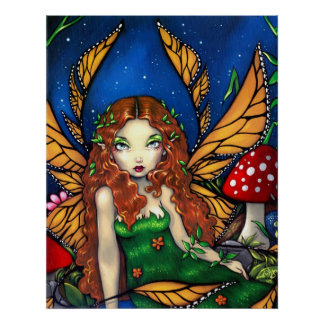 Red Haired Fairy Queen ART PRINT