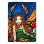 """""""Red Haired Fairy Queen"""" Greeting Card"""