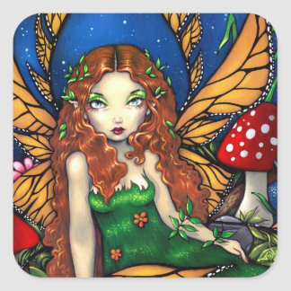 """Red Haired Fairy Queen"" Sticker"