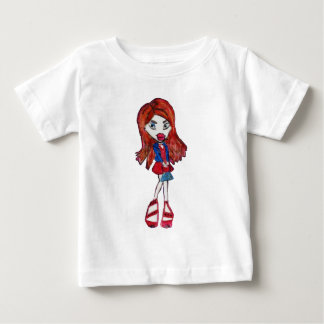 Red Haired Fashionista Girl Baby T-Shirt