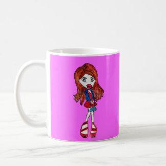 Red Haired Fashionista Girl Mug