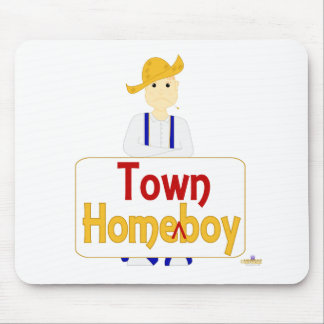 Red Haired Frowning Farmie Blue Pants HomeTownBoy Mouse Mat