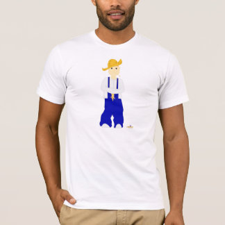Red Haired Frowning Farmie Blue Pants T-Shirt