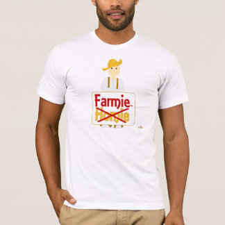 Red Haired Frowning Farmie Brown Pants Farmie X Ho T-Shirt