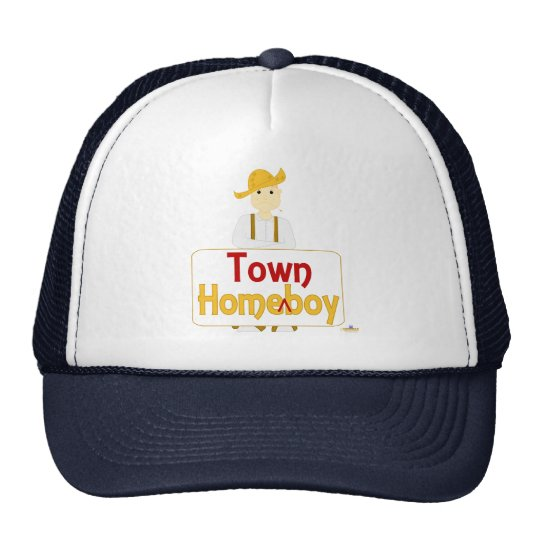 Red Haired Frowning Farmie Brown Pants HomeTownBoy Trucker Hat