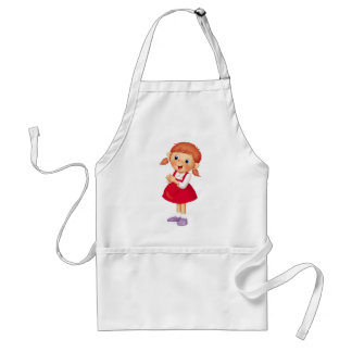 Red-haired Girl Adult Apron