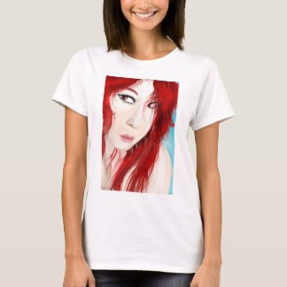 Red haired girl shirt