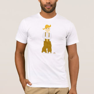Red Haired Grinning Farmie Brown Pants T-Shirt
