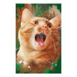 Red-haired kitten stationery