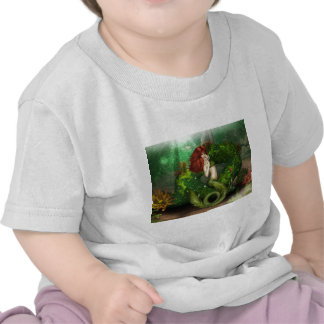 Red Haired Mermaid Baby T-Shirt