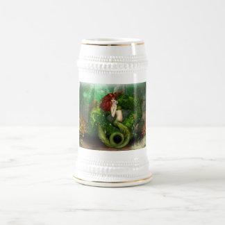 Red Haired Mermaid Beer Stein Coffee Mugs