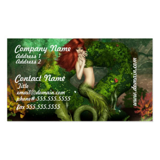 Red Haired Mermaid Busines Cards Business Card Templates