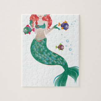 Red Haired Mermaid Jigsaw Puzzle