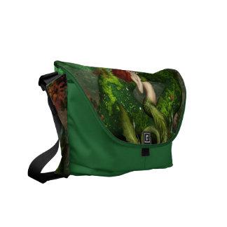 Red Haired Mermaid Messenger Bag
