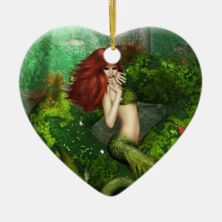 Red Haired Mermaid Ornament