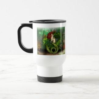 Red Haired Mermaid Plastic Travel Mug