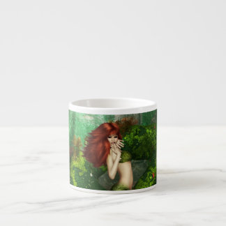 Red Haired Mermaid  Specialty Mug Espresso Cup