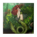 Red Haired Mermaid Tile or Trivet