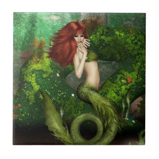 Red Haired Mermaid Tile or Trivet