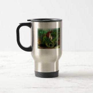 Red Haired Mermaid Travel Mug