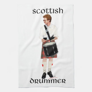 Red Haired Scottish Drummer Hand Towel