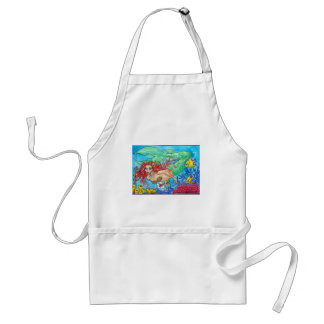 red haired siren adult apron