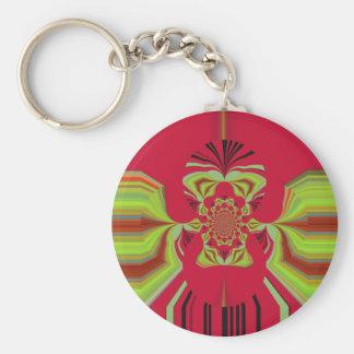 Red Hakuna Matata pattern Keychain