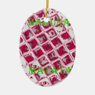 Red Hakuna Matata Style Ceramic Ornament