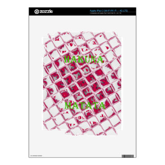 Red Hakuna Matata Style Decals For iPad 3