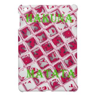 Red Hakuna Matata Style iPad Mini Covers