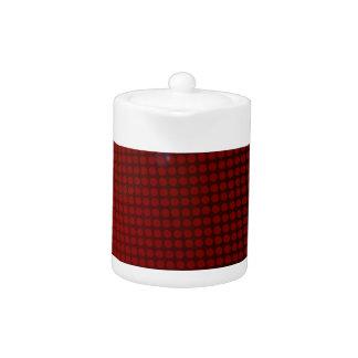 red halation teapot