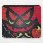 red halloween eyes mousepad