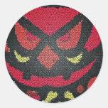 red halloween eyes sticker
