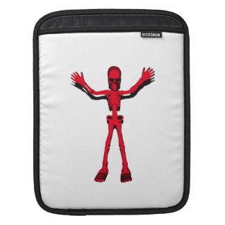 Red Halloween Skeleton Sleeve For iPads