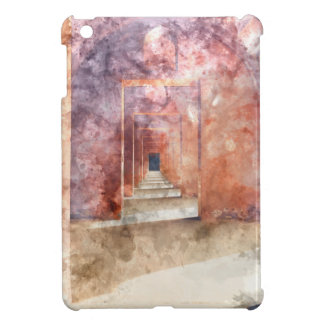 Red Hallway at the Taj Mahal Cover For The iPad Mini