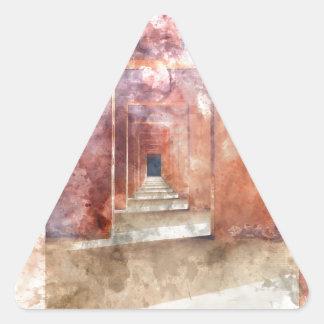 Red Hallway at the Taj Mahal Triangle Sticker